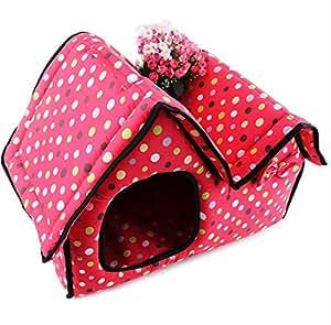 Amazon.com : UMALL Polka Dot High-End Double Pet House for