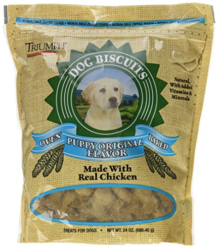 Triumph Oven-Baked Puppy Biscuits, 24 Ounces, Crunchy Dog Treats Made with Real Chicken