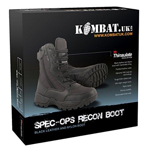 Kombat UK Spec-OPS Recon Botas para Hombre negro
