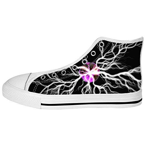 Eclairage Personnalisé Chaussures De Toile Pour Homme Les Lacets Dans Le Haut Au-dessus Des Chaussures De Toile Chaussures De Toile.