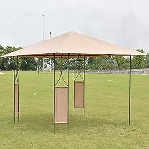 eXXtra Store 10'x10' cuadrado Gazebo toldo tienda de campaña refugio toldo para jardín y patio, cubierta de w/