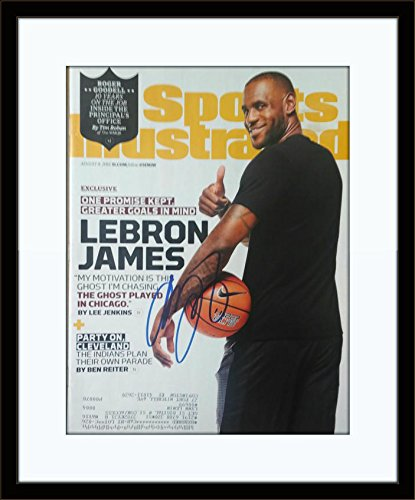 new styles 30a50 6678c Framed LeBron James Autographed Magazine Cover with ...