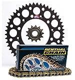 Renthal Grooved Front & Ultralight Rear Sprockets & R1 MX Works Chain Kit - 13/50 BLACK - Kawasaki KX250F