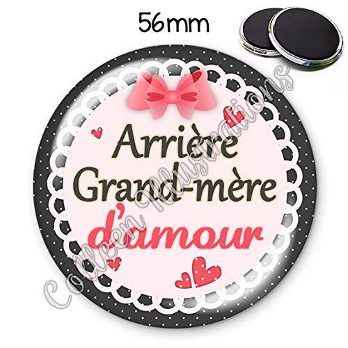 Magnet 56mm Arrière Grand Mère D Amour Aimant Frigo Idée Cadeau Anniversaire Noël Fête Des Grand Mères