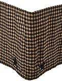 VHC Brands Primitive Bedding Check Star Skirt, Queen, Black