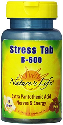 Stress B-complex 50 Tab - Nature's Life Stress Tabs B-600 Tablets, 50 Count