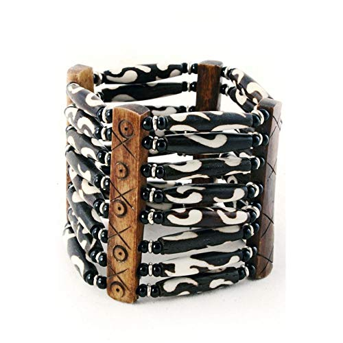 - Authentic African Hand Crafted Batik Cow Bone Bracelet II