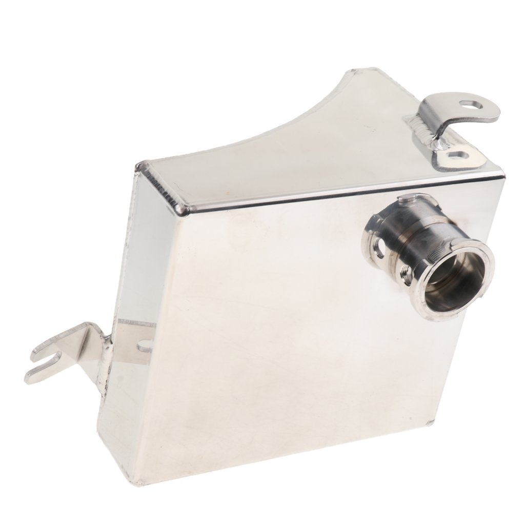 MagiDeal Univerial Car Modified Water Expansion Tank Bevel With Cap Silver SC-OT004 by Unknown (Image #9)