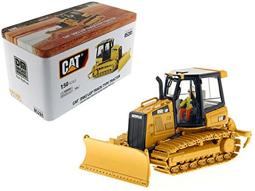 StarSun Depot CAT Caterpillar D5K2 LGP Track Type Tractor Dozer with Ripper with Operator High Line Series 1/50 Model by Masters