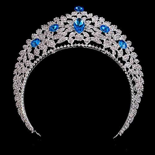 Olici Accessoires De Cheveux//Mariage//F/ête La Coiffure De Haut De Gamme Diamant Bleu Couronne DOrnements Robe De De Gaze Les Accessoires Les Accessoires