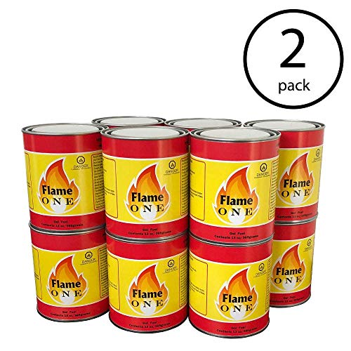 Flame One Indoor or Outdoor Premium Gel Fireplace Fuel in 13 Oz Cans (12 Pack) (2 Pack)