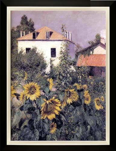 Sunflower Home Decor Sunflowers in the Garden at Petit Canvas Wall Art Print