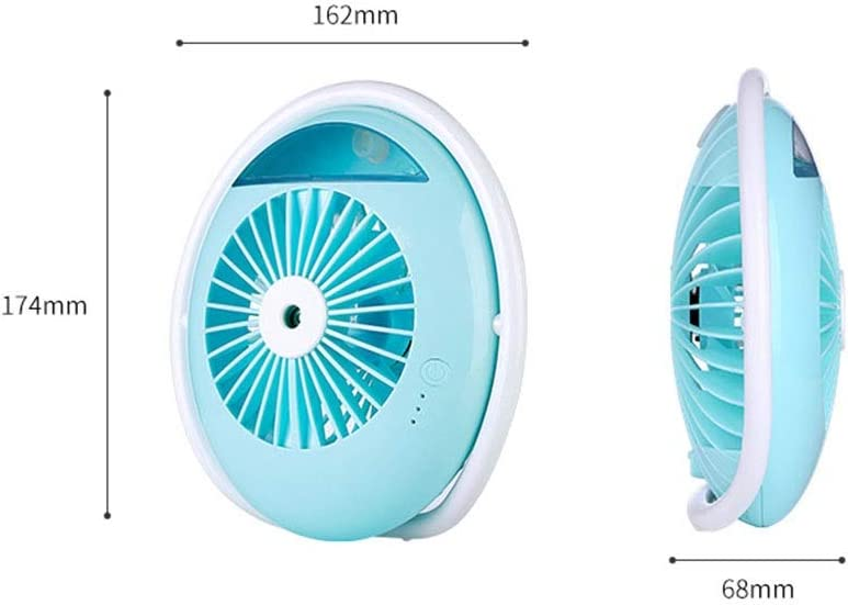 Mini Portable Fan Humidifying Fan Mini Car Office Air Humidifier USB Charging With USB Rechargeable 2000 MAh Battery 2 Speeds For Home And Office 3 Colors USB Fan for Travel Office