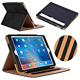 iPad Mini Case, iPad Mini 2 Case, iPad Mini 3 Case, YEONPHOM Sleep Awake Smart Leather Stand Folio Case Cover with Multiple Viewing Angles, Document Card Pocket for Apple iPad Mini 1/2/3 - Black