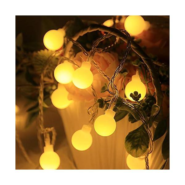Catena Luminosa con Ganci Stringa Luci LED a Batteria o USB 100 LED 10M 8 Modi Ghirlanda Luminosa Lampadina Impermeabile con Telecomando per Cortile Casa Festa Matrimonio Natale 6 spesavip