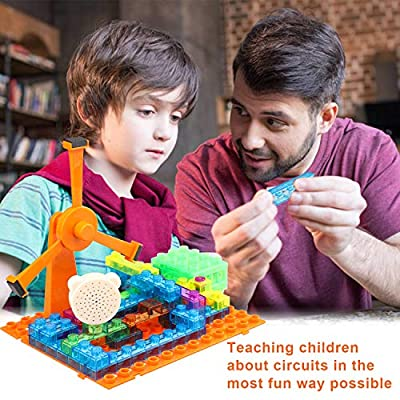PANTHEON Circuits for Kids STEM Science Electronic Circuit Kit Toy - 600 Projects for Age 8 9 10 11 12 to 15 Year Old - 64 Pieces: Toys & Games