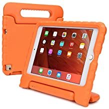 iPad Mini 4 kids case, COOPER DYNAMO Rugged Heavy Duty Children's Boys Girls Tough Rubber Drop Proof Protective Carry Case Cover + Handle, Stand & Screen Protector for Apple iPad Mini 4 Orange