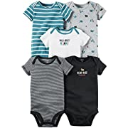 Carter's Baby Boys' Multi-Pk Bodysuits 126g248, Wild About Mommy, 3 Months