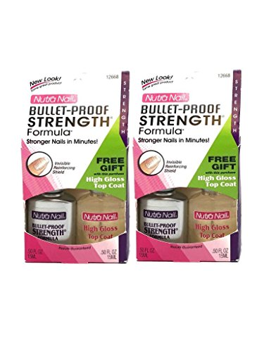 Lot of 2 Nutra Nail Bullet Proof Formula + TopCoat - 018515126689 by (Nutra Nail)