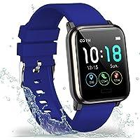"""Showyoo Reloj inteligente, Pulsera de Actividad Pantalla a Color 1.3"""" Reloj Deportivo Monitor de Ritmo Cardíaco Sueño…"""