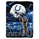 NFL Indianapolis Colts 60-Inch-by-80-Inch Plush Rachel Blanket, Sky Helmet Design