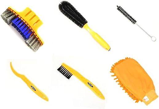 lecimo 6 piezas kit limpieza Cepillo de bicicleta/instrumentos de ...
