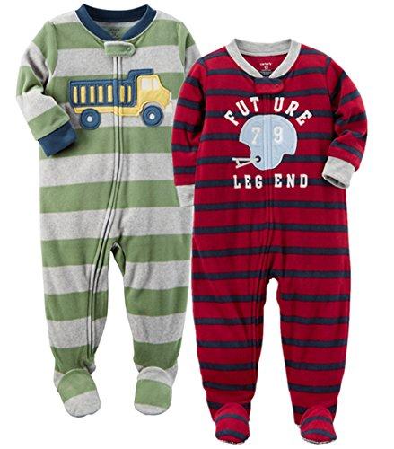Carter's Baby Boys' 2-Pack Fleece Pajamas (18 Months, Dump Truck/Future ()