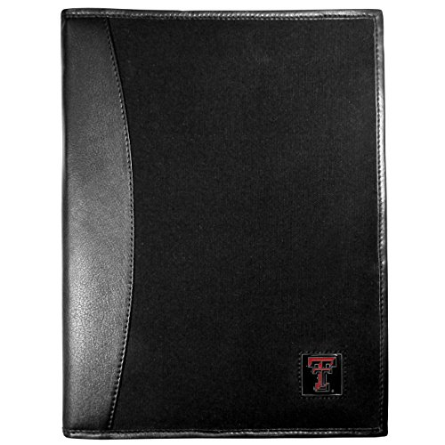 Siskiyou NCAA Texas Tech Red Raiders Leather and Canvas Padfolio, Black by Siskiyou