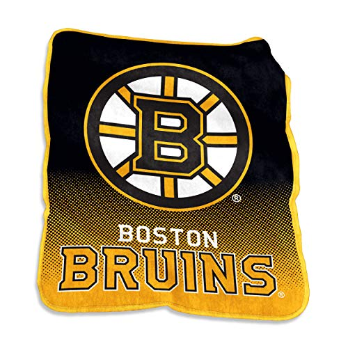 Blanket Bruins Boston (NHL Boston Bruins Plush Raschel Throw Large Logo Blanket, Multicolor, 50