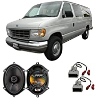 Fits Ford Econoline Full Size Van 1992-1996 Rear Door Factory Replacement HA-R68 Speakers