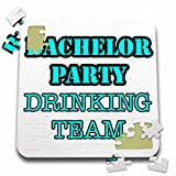 Stag,Bachelor Party - Bachelor Party Drinking Team Turquoise - 10x10 Inch Puzzle (pzl_261065_2)