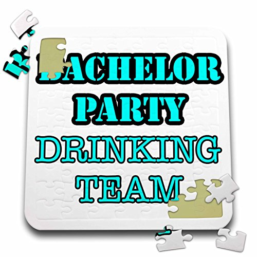 Stag,Bachelor Party - Bachelor Party Drinking Team Turquoise - 10x10 Inch Puzzle (pzl_261065_2) by 3dRose
