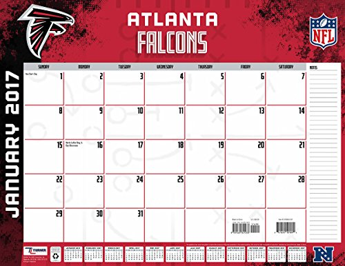 "Turner Licensing Sport 2017 Atlanta Falcons Desk Pad Calendar, 22""X17"" (17998061527)"