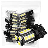 3157 white led light bulbs - Yorkim Extremely Bright 18 Chipsets 3056 3156 3057 3157 18-SMD 5050 Wedge LED Bulbs for Backup Reverse Lights ,12V Brake Light, Parking Light,3157 LED Bulb (Pack of 10)