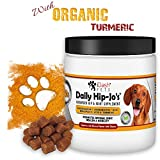 iDash Pets Daily Hip-Jo's- Premium Hip & Joint Supplement for Dogs- Glucosamine for Dogs, Chondroitin, MSM & Turmeric - Joint Health, Arthritis Pain Relief- Hip Dysplasia- 130 Bacon Soft Chew Treats