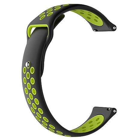 Febelle - Correa de Reloj de Silicona Flexible Compatible ...