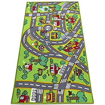 Amazon Com Large Quot Cityscape Quot Play Mat With Train Tracks