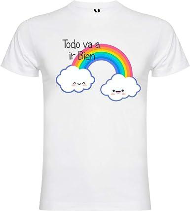 Desconocido Camiseta Arcoiris Todo va a Salir Bien. -: Amazon.es: Ropa y accesorios