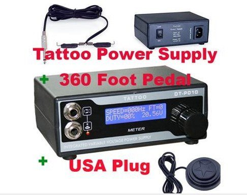 Cool2day Digital Tattoo Power Supply+360 Foot Pedal KIT D010001