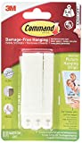 Command Narrow Picture Hanging Strips 3481T1, White, 16-Pairs