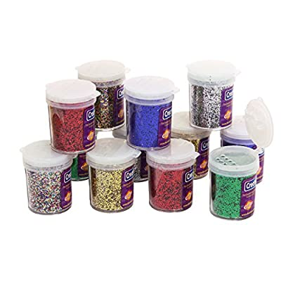 Creativity Street Glitter Variety Pack, 0.75-Ounce Jars, 12-Pack, Assorted Colors (AC8710)