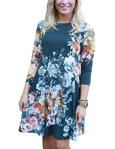 3 4 Length Sleeve Dresses - 9