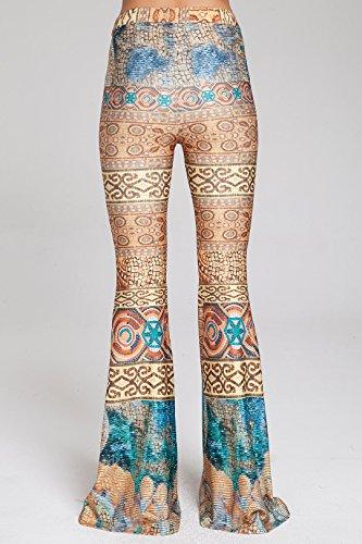 63b825ca81617 AZZAVERA Rem High Waist Flare Pants Bell Bottoms Wide Leg Long Palazzo Yoga  Harem Pants, 70s Boho Hippie ...