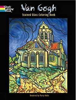 van gogh stained glass coloring book - Van Gogh Coloring Book