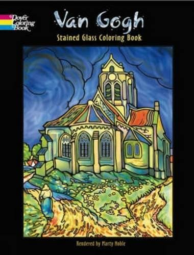 van gogh stained glass coloring book marty noble vincent van gogh 9780486456713 amazoncom books - Stained Glass Coloring Book
