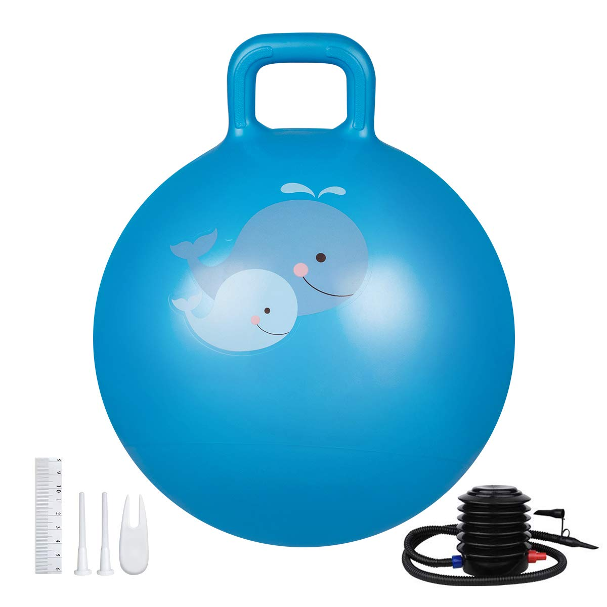 Trideer Hopper Ball Kids Exercise Ball Multi Function Jump Ball Bouncy Ball With Handles Kids Balance Ball And Ball Chair For Children Age 3 12 Air Pump Included Team Immortal Forever Fit