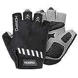 HOMPO Bike Gloves Cycling Gloves Half Finger for Men Women with Foam Padding