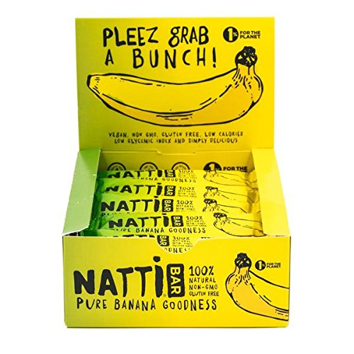 NATTi - Original Banana, Vegan Paleo Endurance Bar (16 count)