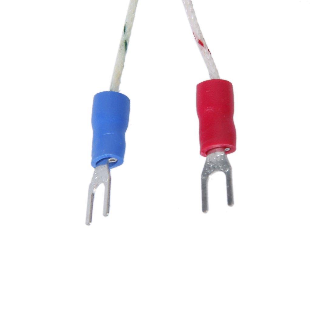 100/°C to 1250/°C Probe 3M 100mm Spade K-Type Temperature Controller Thermocouple Sensor