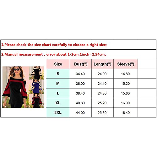 Righe Pipistrello Donna Aderenti Sling Jumper Camicetta Maniche Lavoro Top Moderno Camicetta Signora Colore Nero Contrasto a per a Camicia I5Sq7